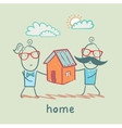 people keep house vector image vector image
