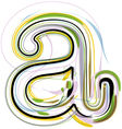 Organic Font letter a vector image vector image