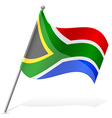 flag South African Republic vector image