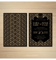 Gatsby Wedding Invitations vector image