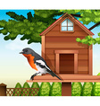 A bird at the pethouse vector image