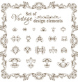 set of retro design elements and page decorations vector image