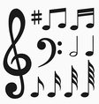 Music notes set vector image
