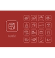 Set of sushi simple icons vector image
