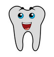 cute tooth cartoon vector image