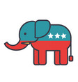 elephant usa republican party flat line vector image