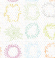 floral wreath seamless pattern Sketch frames vector image