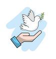 global peace in worldwide to harmony spirit vector image