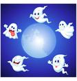 Halloween ghost cartoon vector image