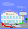 planes with international airport vector image