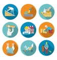 Roofer Icons Set vector image