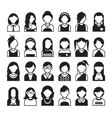 Set of flat people icons vector image