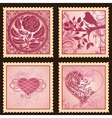 Set of romantic marks vector image