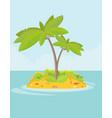 summer vacation holiday tropical ocean islands vector image