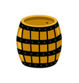 wooden rum barrel isolated icon vector image