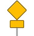 Yellow Sign and Pole vector image
