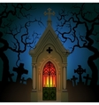 Old Gothic Crypt vector image