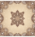 floral arabesque ornament vector image
