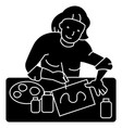 artist woman icon vector image