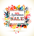 Autumn of leaves vector image