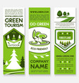 business template banner set for ecotourism design vector image
