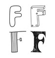 decorative letters of the alphabet lettering for vector image