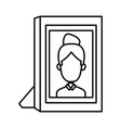 girl picture frame vector image