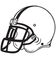 Helmet football vector image