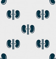 Kidneys sign Seamless pattern with geometric vector image