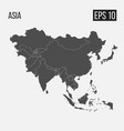 map of asia with regions eps 10 vector image