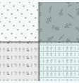 robot doodles pattern set vector image