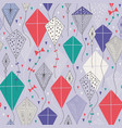 seamless pattern with kites vector image