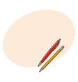 simple hand drawn ball point pen and pencil vector image