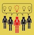 successful team leader give good idea teamwork vector image