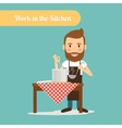 Man cooking in the kitchen vector image