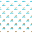 Shovel and fork pattern cartoon style vector image vector image