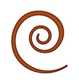spiral line isolated icon vector image