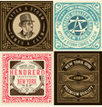 set of 4 old cards vector image vector image