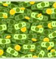 money dollar cash coin gold rain vector image