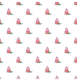 Cupcake pattern cartoon style vector image