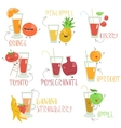 Fruits juices set vector image