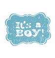 its a boy lettering its a girl lettering baby vector image