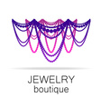jewelry boutique template vector image