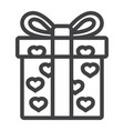 love present line icon valentines day vector image