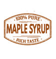 maple syrup grunge rubber stamp vector image