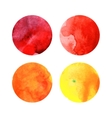 Set of colorful watercolor circles vector image
