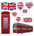 United Kingdom set vector image