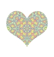 abstract color pattern heart vector image vector image