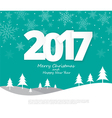 Text 2017 Christmas paper style vector image