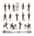 characters design set of business people man and vector image